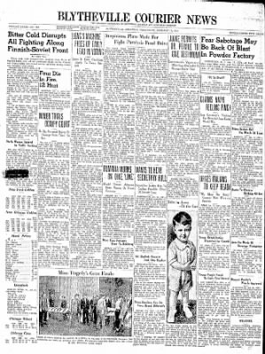 The Courier News from Blytheville, Arkansas on January 17, 1940 · Page 1