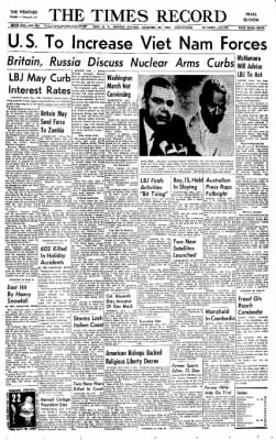 The Times Record from Troy, New York on November 29, 1965 · Page 1