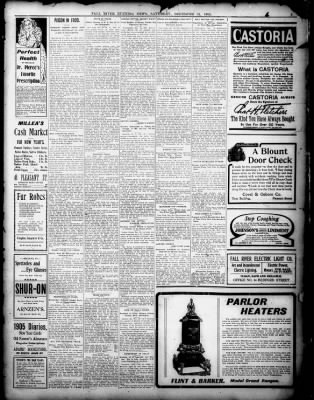 Fall River Daily Evening News from Fall River, Massachusetts on December 31, 1904 · 3