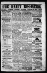 Sample Daily Raleigh Register front page