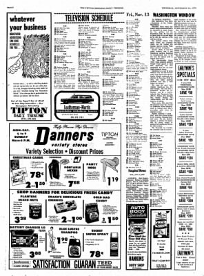 The Tipton Daily Tribune from Tipton, Indiana on November 12, 1970 · Page 6