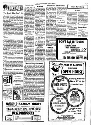 The Tipton Daily Tribune from Tipton, Indiana on November 27, 1970 · Page 3