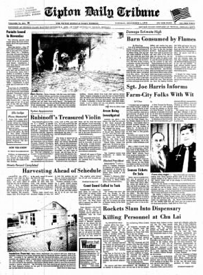 The Tipton Daily Tribune from Tipton, Indiana on December 1, 1970 · Page 1