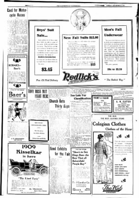 The Bakersfield Californian from Bakersfield, California on September 29, 1908 · Page 8