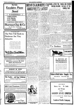 The Bakersfield Californian from Bakersfield, California on September 30, 1908 · Page 3
