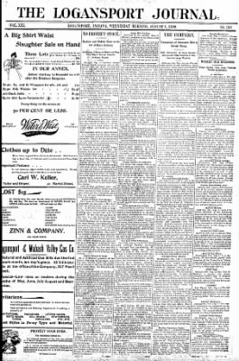Logansport Pharos-Tribune from Logansport, Indiana on August 5, 1896 · Page 1