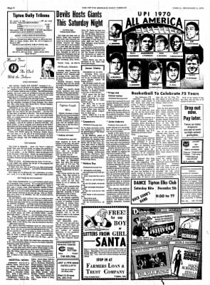 The Tipton Daily Tribune from Tipton, Indiana on December 4, 1970 · Page 6