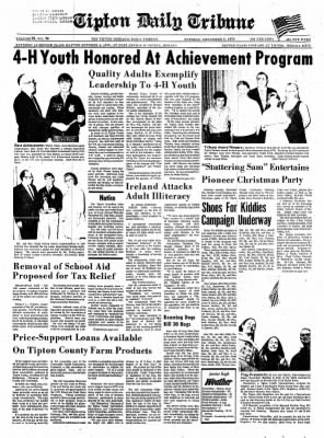 The Tipton Daily Tribune from Tipton, Indiana on December 8, 1970 · Page 1