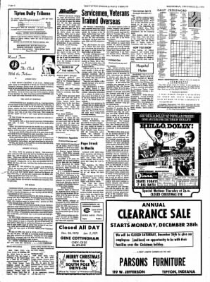 The Tipton Daily Tribune from Tipton, Indiana on December 23, 1970 · Page 6