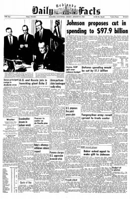 Redlands Daily Facts from Redlands, California on January 21, 1964 · Page 1