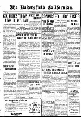 The Bakersfield Californian from Bakersfield, California on October 29, 1908 · Page 1