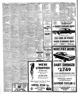 the bridgeport post from bridgeport connecticut on june 4 1972 1970 Chevy Camaro the bridgeport post from bridgeport connecticut on june 4 1972 page 110