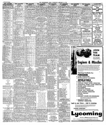 The Bridgeport Post From Bridgeport Connecticut On January 24 1963