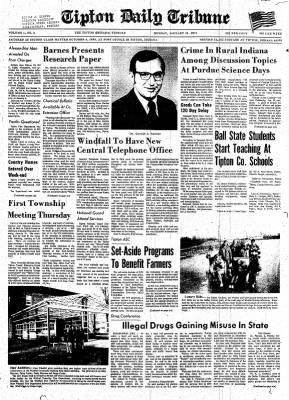 The Tipton Daily Tribune from Tipton, Indiana on January 11, 1971 · Page 1