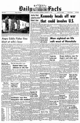 Redlands Daily Facts from Redlands, California on January 23, 1964 · Page 1