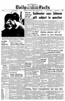 Redlands Daily Facts from Redlands, California on January 24, 1964 · Page 1