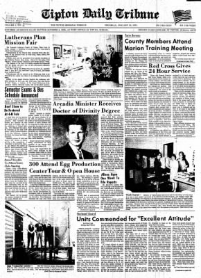 The Tipton Daily Tribune from Tipton, Indiana on January 14, 1971 · Page 1