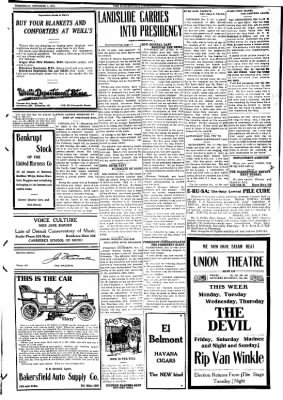 The Bakersfield Californian from Bakersfield, California on November 4, 1908 · Page 3