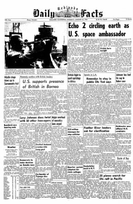 Redlands Daily Facts from Redlands, California on January 25, 1964 · Page 1