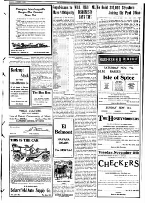 The Bakersfield Californian from Bakersfield, California on November 6, 1908 · Page 3