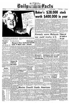 Redlands Daily Facts from Redlands, California on January 28, 1964 · Page 1