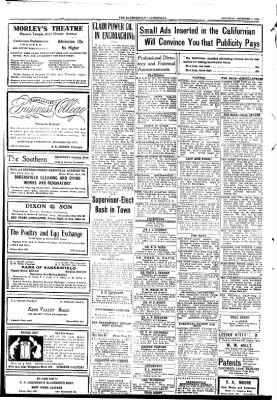 The Bakersfield Californian from Bakersfield, California on November 7, 1908 · Page 6