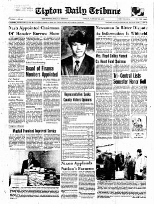 The Tipton Daily Tribune from Tipton, Indiana on January 22, 1971 · Page 1