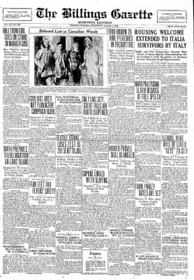 The Billings Gazette from Billings, Montana on August 1, 1928 · Page 1