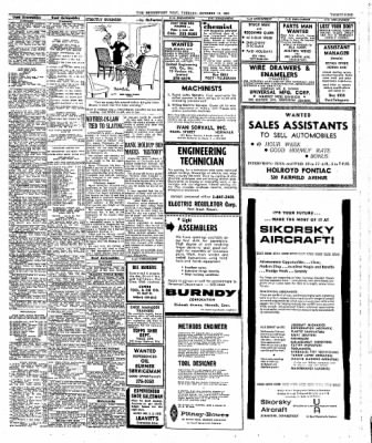 The Bridgeport Post From Bridgeport Connecticut On October 12 1965