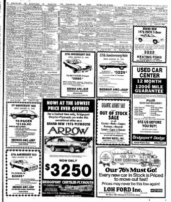 The Bridgeport Post From Bridgeport Connecticut On August 11 1976