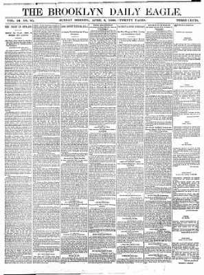 The Brooklyn Daily Eagle from Brooklyn, New York on April 6, 1890 · Page 1