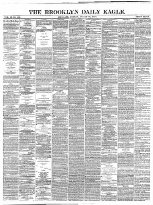 The Brooklyn Daily Eagle from Brooklyn, New York on August 28, 1871