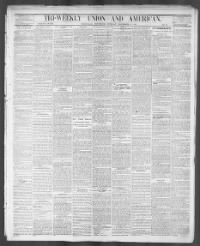 Sample Tri-Weekly Union and American front page