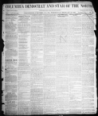 Sample Columbia Democrat and Star of the North front page