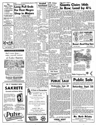 Greensburg Daily News from Greensburg, Indiana on September 17, 1965 · Page 4