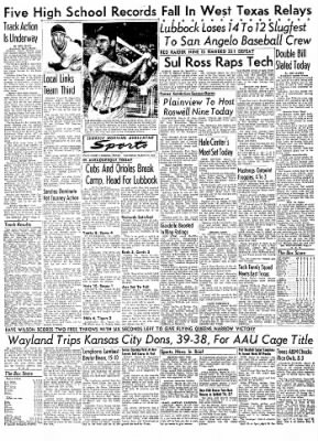 Lubbock Morning Avalanche from Lubbock, Texas on March 27, 1954 · Page 8