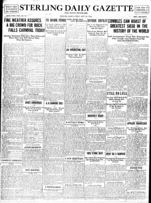 Sterling Standard from Sterling, Illinois on September 29, 1916 · Page 1