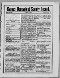 Sample Kansas Benevolent Society Record front page
