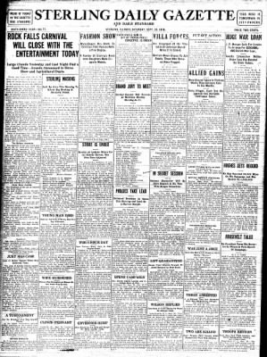 Sterling Standard from Sterling, Illinois on September 30, 1916 · Page 1