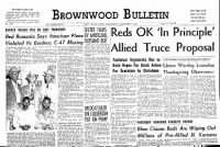 Sample Brownwood Bulletin front page