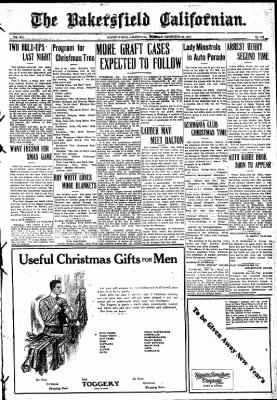 The Bakersfield Californian from Bakersfield, California on December 22, 1908 · Page 1
