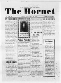 Sample The Hornet front page