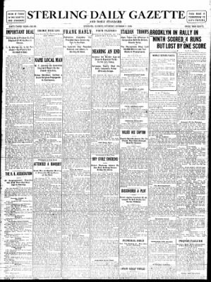 Sterling Standard from Sterling, Illinois on October 7, 1916 · Page 1