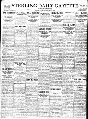 Sterling Standard from Sterling, Illinois on October 12, 1916 · Page 1