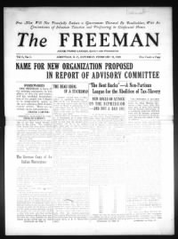 Sample The Freeman front page