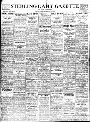 Sterling Standard from Sterling, Illinois on October 21, 1916 · Page 1