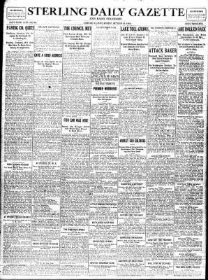 Sterling Standard from Sterling, Illinois on October 23, 1916 · Page 1