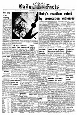 Redlands Daily Facts from Redlands, California on March 4, 1964 · Page 1