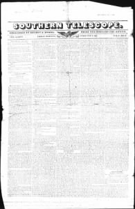 Sample Southern Telescope front page
