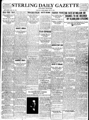 Sterling Standard from Sterling, Illinois on November 6, 1916 · Page 1